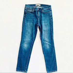 """GAP Real Straight 9"""" Rise Stretch Jeans 27"""